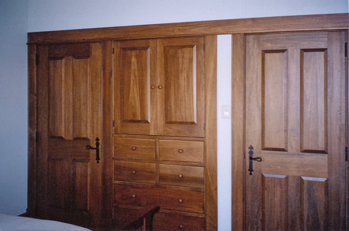 Shaker Style Interior Doors and Bedroom Built-in Cabinet