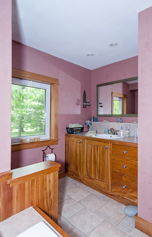 Custom Bathroom Cabinets in Cherry