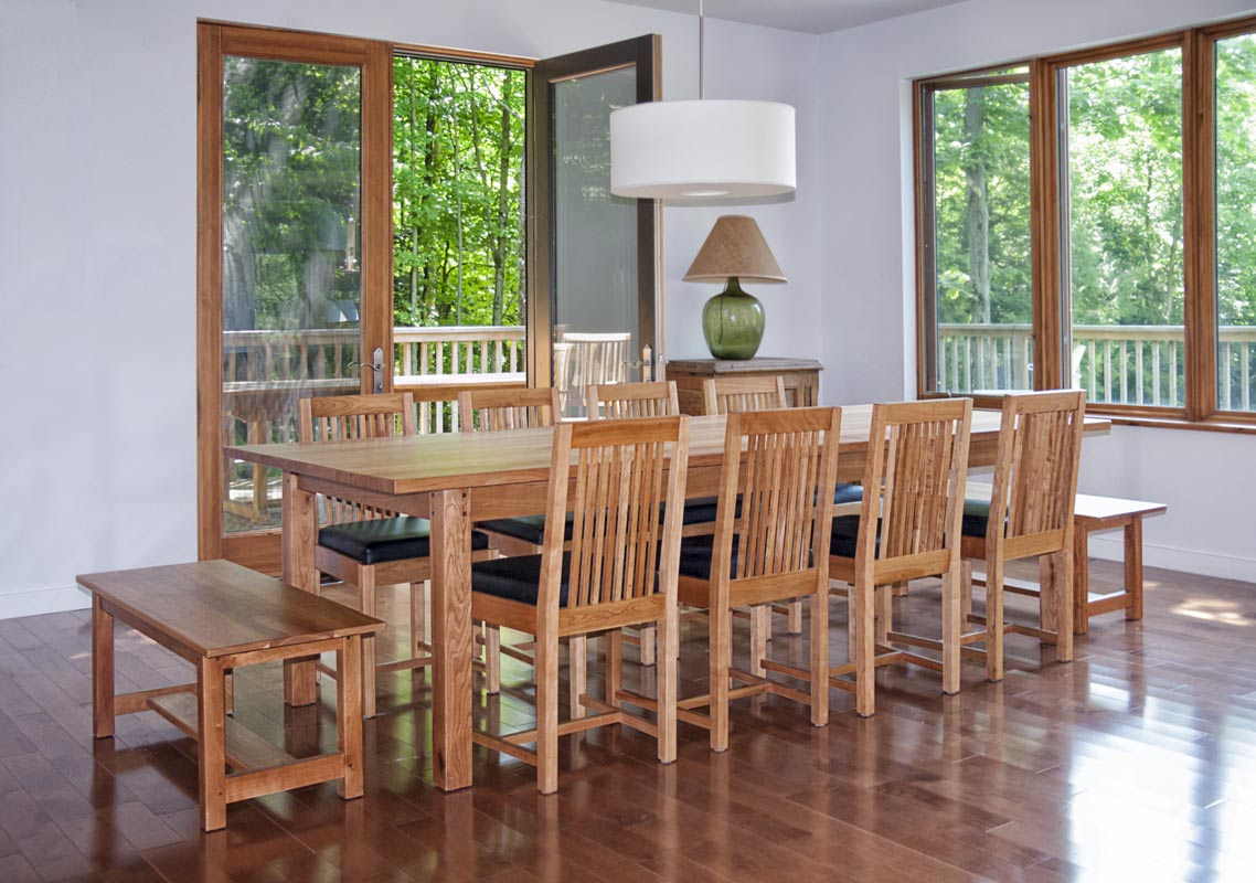 Mission Style Dining Room Set - Side view