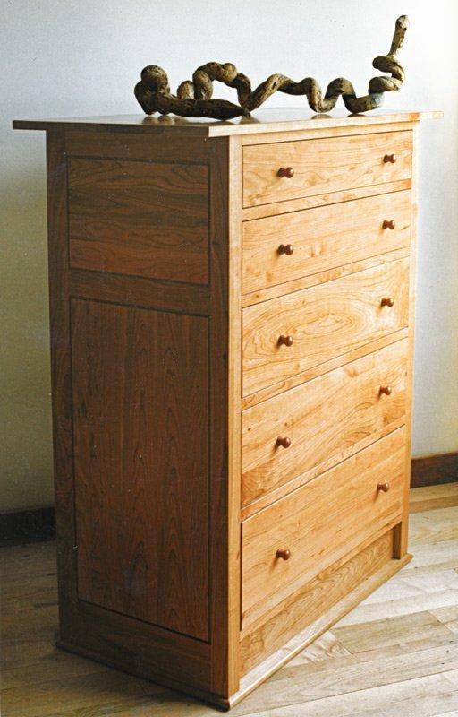 Medium Highboy Dresser in Cherry