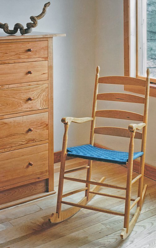 Shaker Style Rocking Chair in Cherry