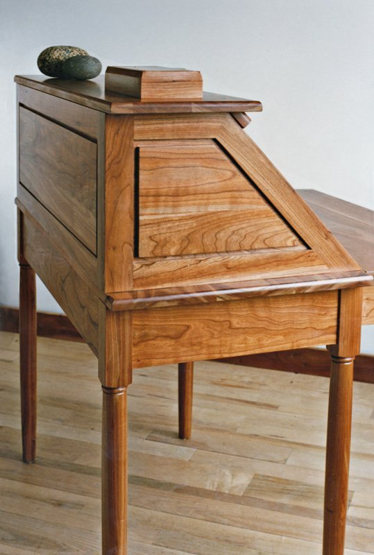 Secretaire in Cherry_Side view