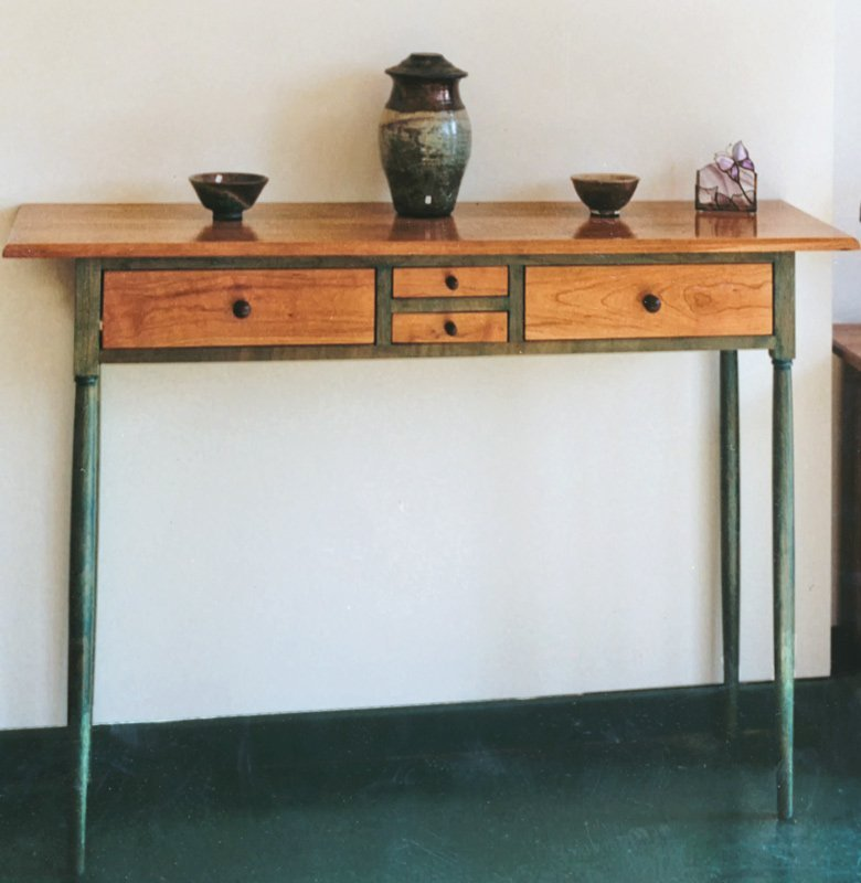 Entrance Table - Natural and Green Stain