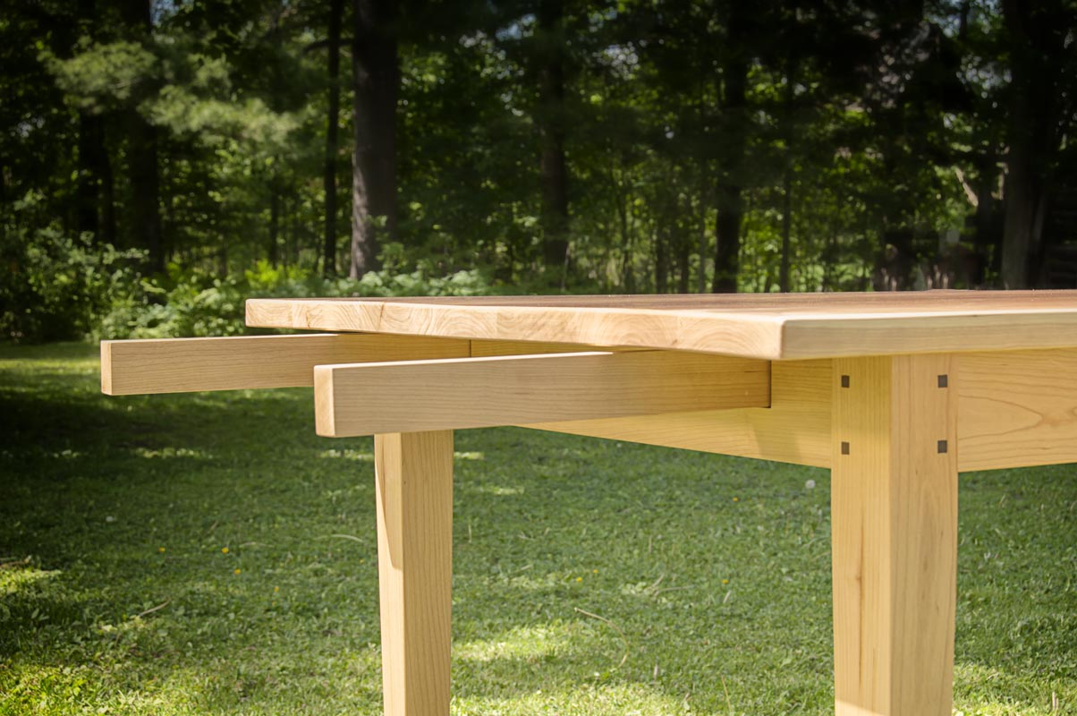Dining Extension Table in Cherry - extension supports
