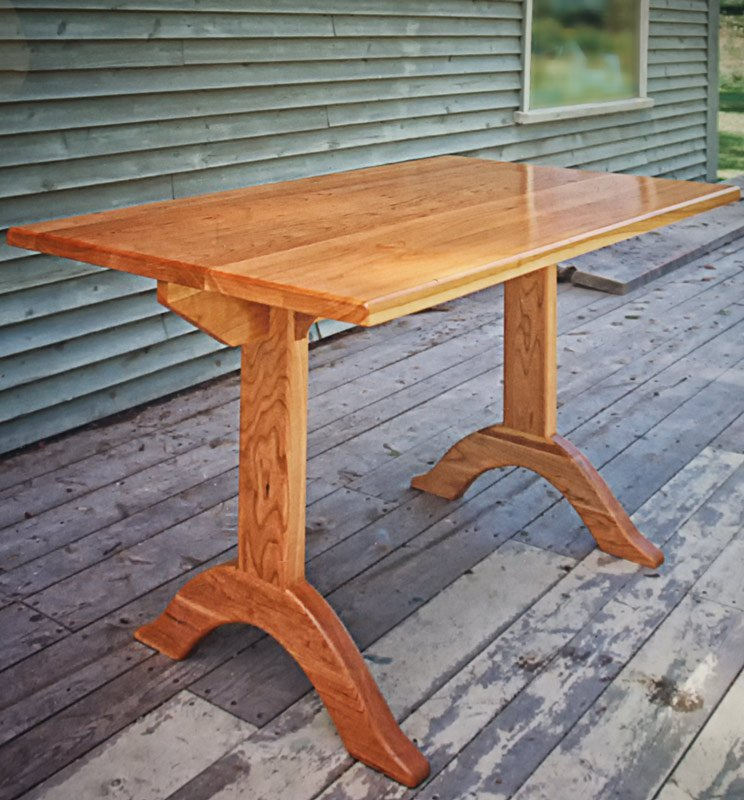Shaker Style Trestle Table in Cherry