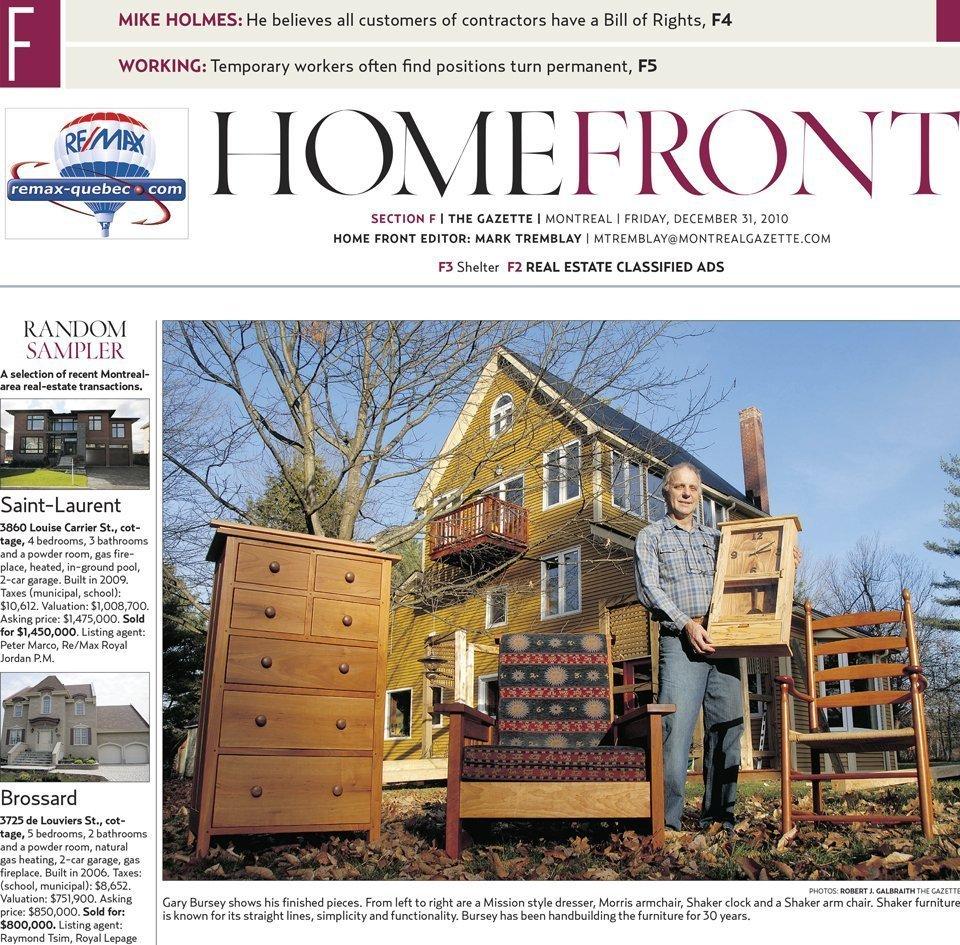 The Gazette, December 31, 2010 - HomeFront F-1 Upper part