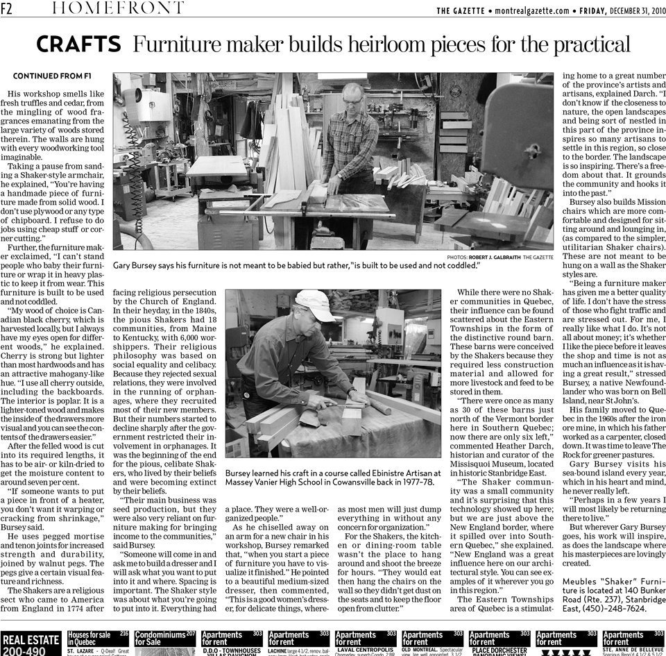 The Gazette, December 31 2010, HomeFront F-2 Upper part